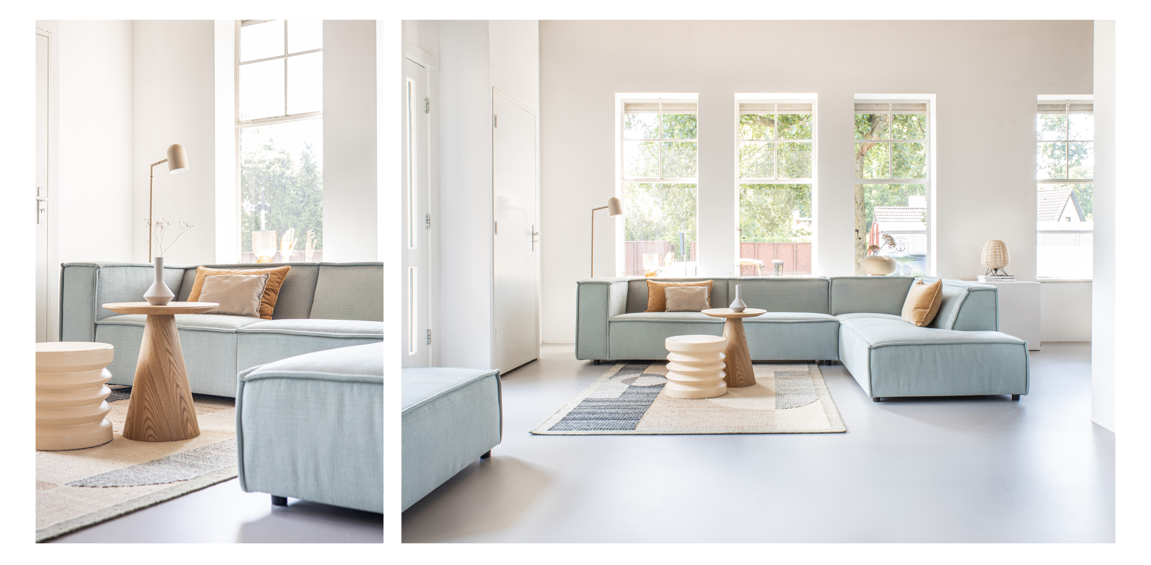 scandihome, scandinavisch design, groene bank, hoekbank, By SIDDE, interieur