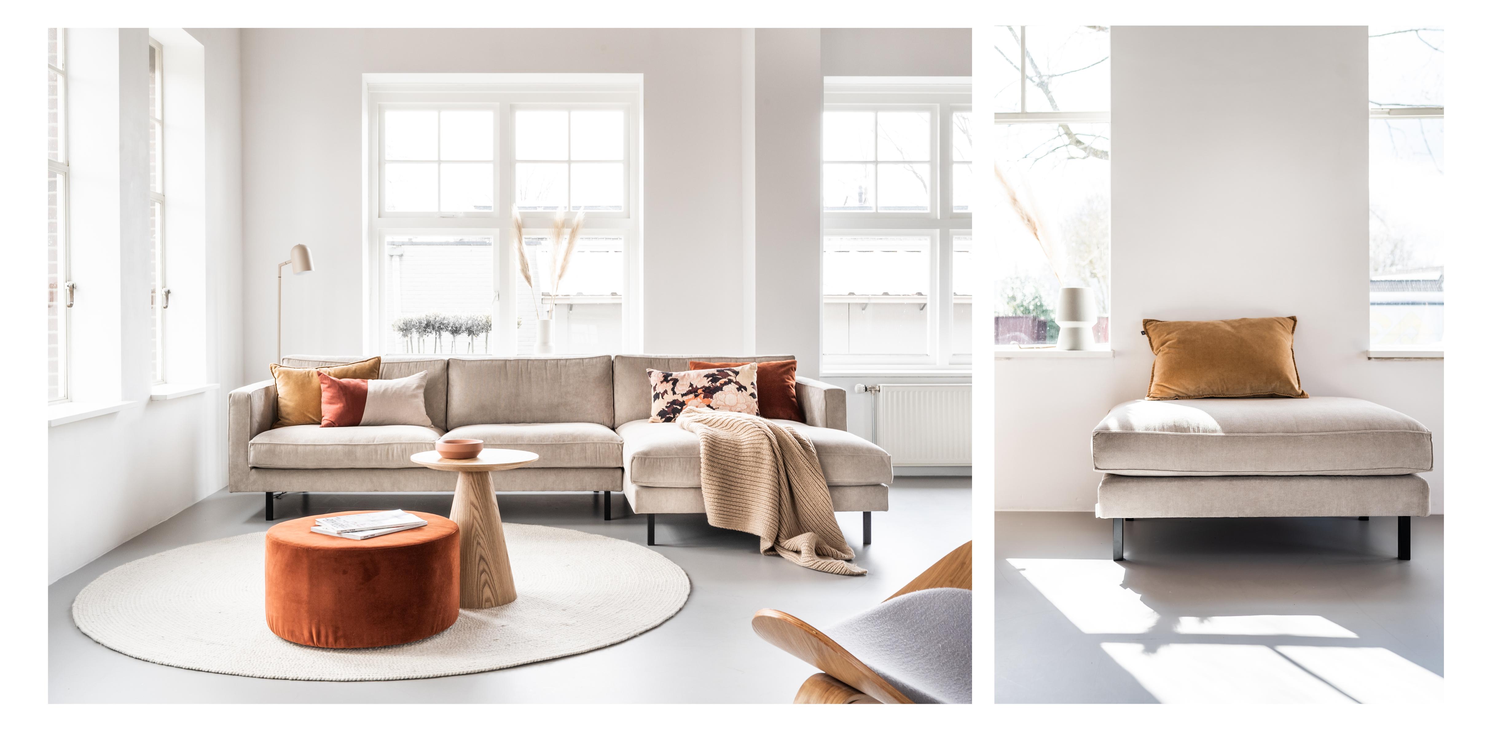 interieur, mads, By SIDDE, longchair, ribstof, tijdloos, scandinavisch design.